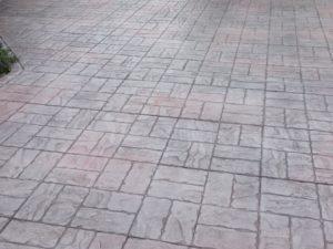 Basketweave Style, Grey/Plum Combination